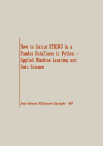 format STRING in a Pandas | Data Science Recipes