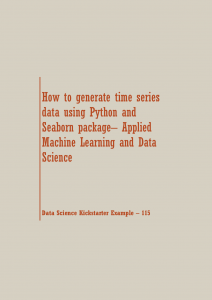 generate time series data Python | Data Science Recipes
