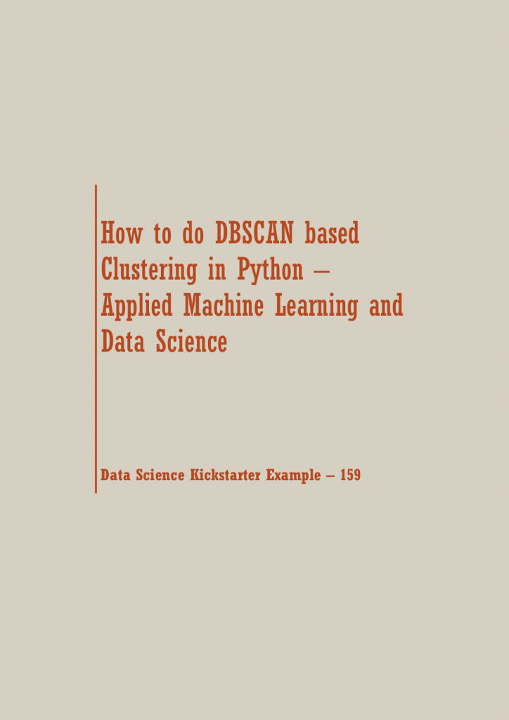 DBSCAN based Clustering in Python | Data Science Recipes