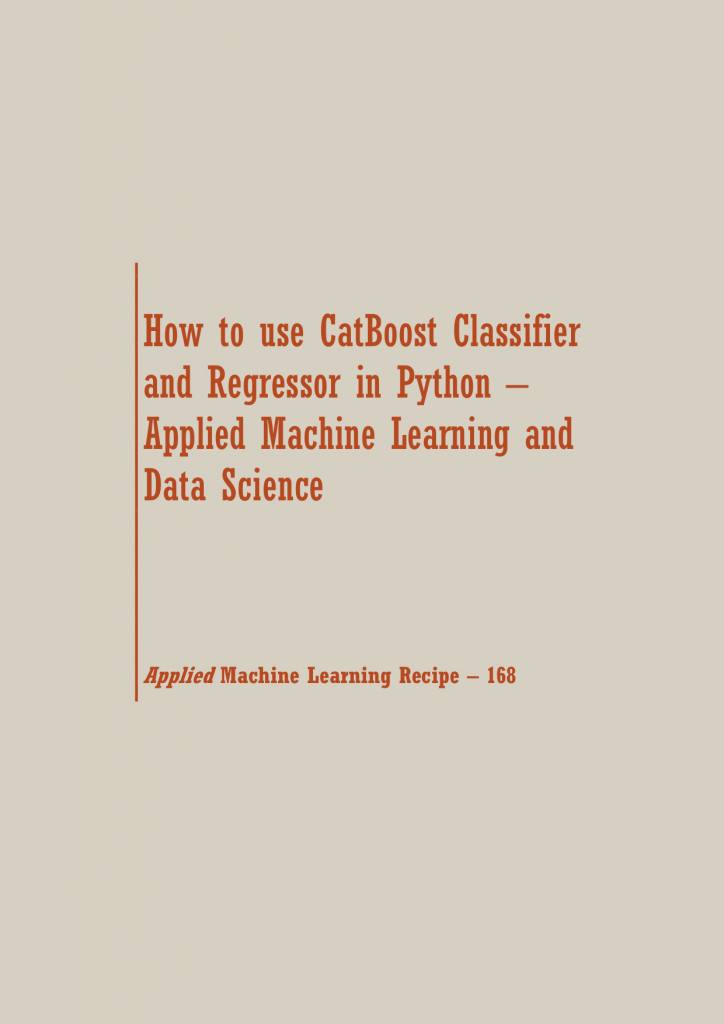 CatBoost in Python | Data Science Recipes