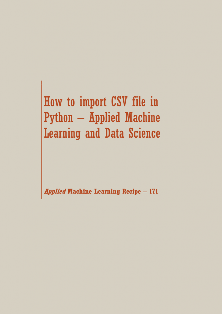 How to import CSV file in Python | Data Science Recipes