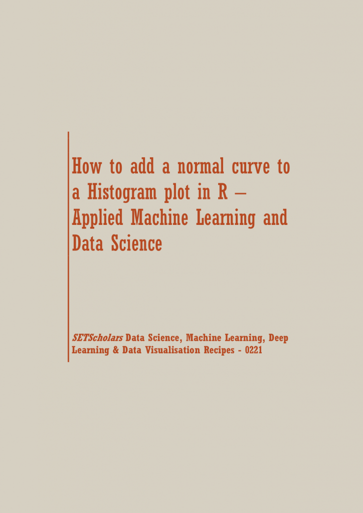 normal curve to a Histogram plot in R | Data Science Recipes